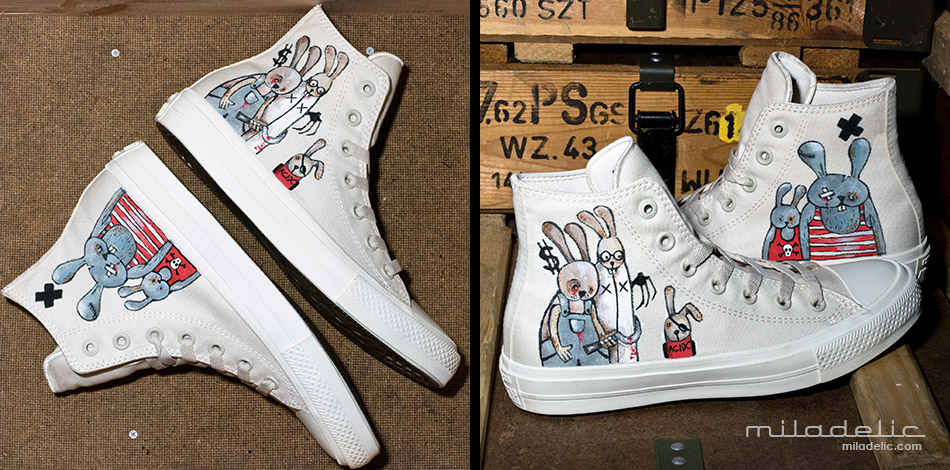 CONVERSE CHUCK TAYLOR ALL STAR II (CTAS II HI) CUSTOM by MILADELIC